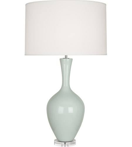 Robert Abbey CL980 Audrey 34 inch 150 watt Celadon Table Lamp Portable Light
