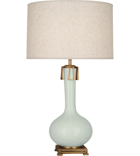 Robert Abbey CL992 Athena 32 inch 150 watt Celadon with Aged Brass Table Lamp Portable Light