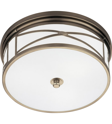 Robert Abbey D1985 Chase 3 Light 15 inch Dark Antique Nickel Flushmount Ceiling Light photo