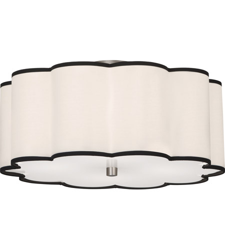 Robert Abbey D2200 Axis 4 Light 20 inch Blackened Antique Nickel Flushmount Ceiling Light photo