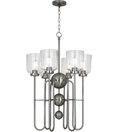 Robert Abbey D410 Williamsburg Tyrie 6 Light 23 inch Dark Antique Nickel Chandelier Ceiling Light photo