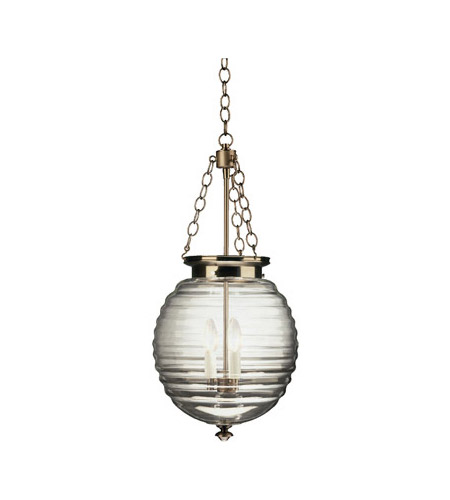 Robert Abbey D616 Beehive 3 Light 11 inch Dark Antique Nickel Pendant Ceiling Light in Clear Glass
