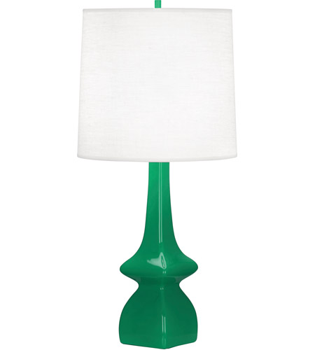 Robert Abbey Eg210 Jasmine 31 Inch 150 Watt Emerald Green Table Lamp Portable Light