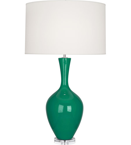 Robert Abbey EG980 Audrey 34 inch 150 watt Emerald Green with Lucite Table Lamp Portable Light