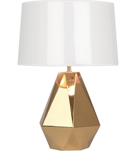 Robert Abbey G930 Delta 23 inch 150 watt Polished Gold Table Lamp Portable Light in Gold Metallic Glaze