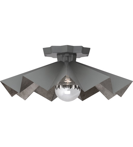 Robert Abbey GRY70 Rico Espinet Bat 1 Light 6 inch Matte Charcoal Painted Flushmount Ceiling Light photo