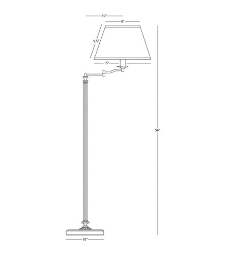 Robert Abbey L180 Abbey Bronze 57 inch 150 watt Victorian Bronze Floor Lamp Portable Light in Natural Crystal Pleat L180_line.jpg