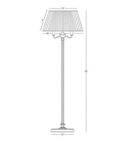 Robert Abbey L181 Abbey Bronze 56 inch 60 watt Victorian Bronze Floor Lamp Portable Light in Natural Crystal Pleat L181_line.jpg