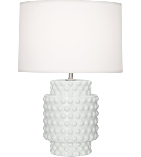 Robert Abbey LY801 Dolly 21 inch 150 watt Lily Glazed Textured Ceramic Accent Lamp Portable Light in Lily Textured, Ascot White