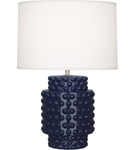 Robert Abbey MB801 Dolly 21 inch 150 watt Midnight Blue Glazed Textured Ceramic Accent Lamp Portable Light in Fondine