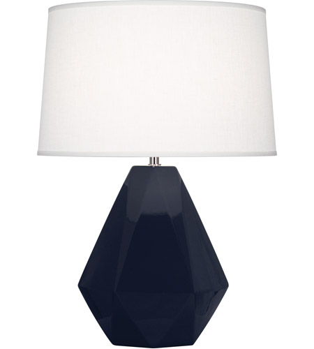 Robert Abbey MB930 Delta 23 inch 150 watt Midnight Blue Table Lamp Portable Light