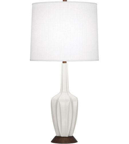 Robert Abbey MLY15 Cecilia 31 inch 150 watt Matte Lily with Walnut Wood Table Lamp Portable Light