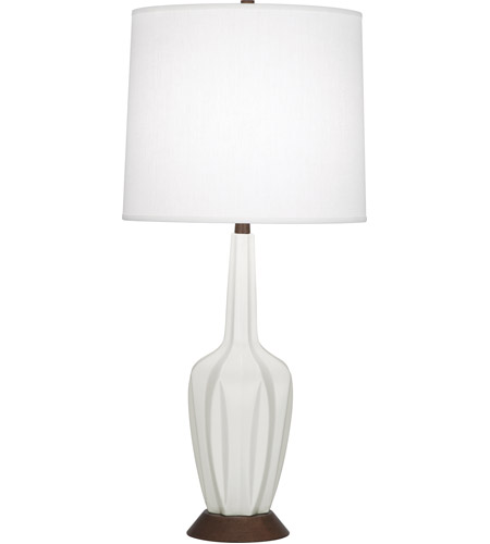 Robert Abbey MLY16 Cecilia 37 inch 150 watt Matte Lily with Walnut Wood Table Lamp Portable Light