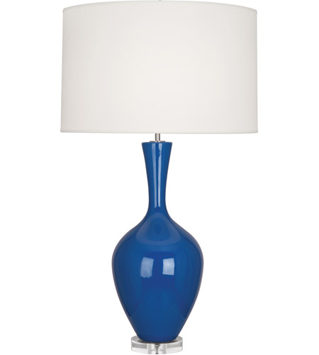 Robert Abbey MR980 Audrey 34 inch 150 watt Marine Blue Table Lamp Portable Light