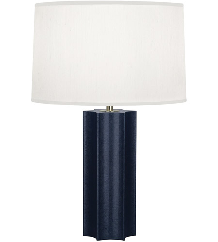 Robert Abbey N890 Anna 26 inch 150 watt Faux Navy Snakeskin with Polished Brass Table Lamp Portable Light