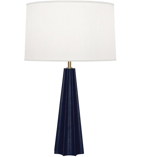 Robert Abbey N894 Anna 30 inch 150 watt Faux Navy Snakeskin with Polished Brass Table Lamp Portable Light