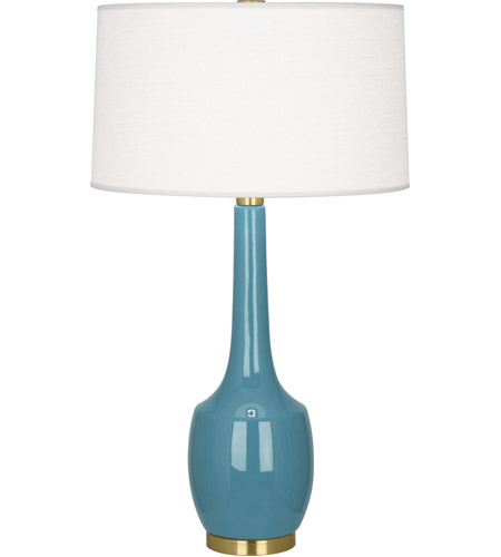 Robert Abbey OB701 Delilah 34 inch 150 watt Steel Blue Table Lamp Portable Light