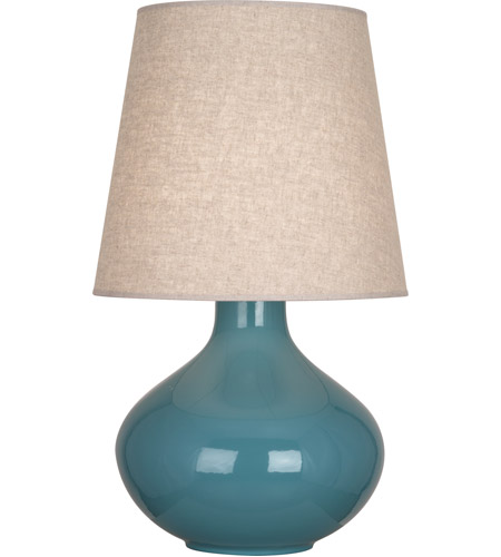 Steel Blue Ceramic June Table Lamps