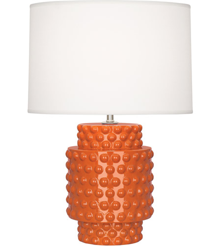 Robert Abbey Pumpkin Ceramic Table Lamps