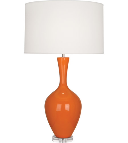 Robert Abbey PM980 Audrey 34 inch 150 watt Pumpkin Table Lamp Portable Light