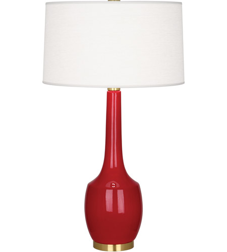 Robert Abbey RR701 Delilah 34 inch 150 watt Ruby Red Table Lamp Portable Light
