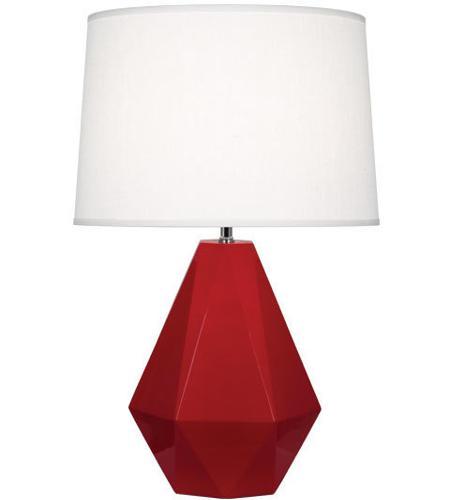 robert abbey rr930 delta 23 inch 150 watt ruby red table lamp portable light - Robert Abbey Lamps