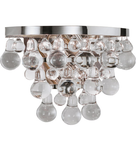 Robert Abbey S1001 Bling 2 Light 13 inch Polished Nickel Wall Sconce Wall Light photo