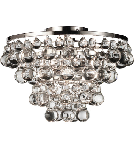 Robert Abbey S1002 Bling 2 Light 17 inch Polished Nickel Flushmount Ceiling Light photo