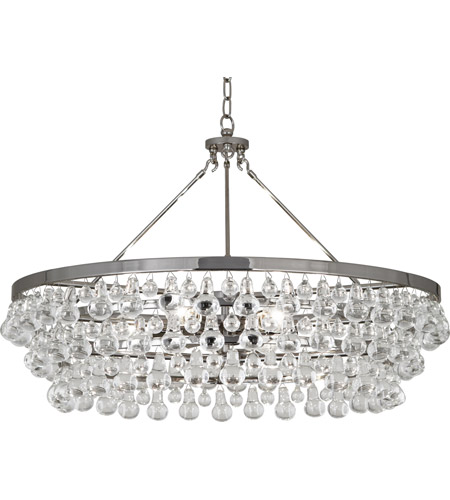 Robert Abbey S1004 Bling 6 Light 34 inch Polished Nickel Chandelier Ceiling Light