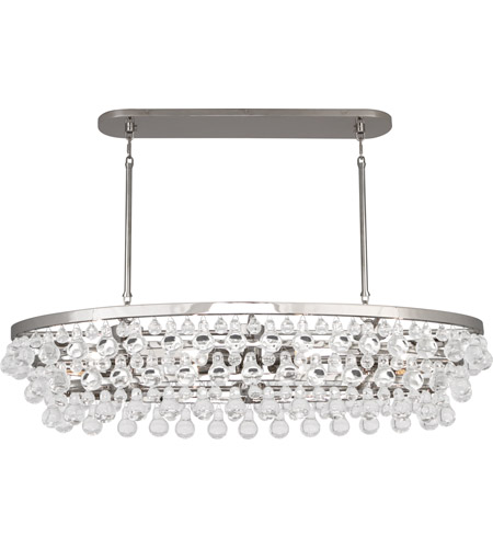 Robert Abbey S1007 Bling 8 Light 19 inch Polished Nickel Chandelier Ceiling Light photo