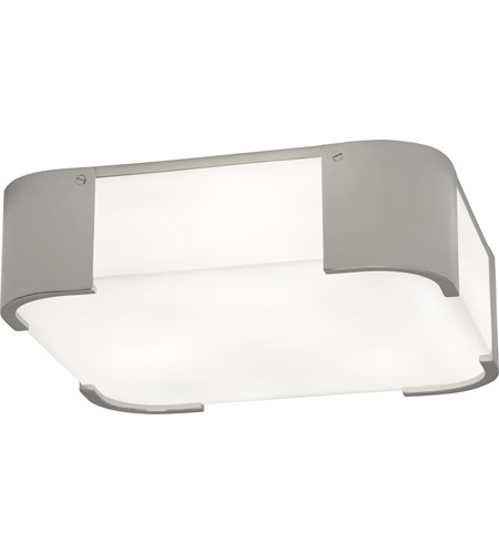 Robert Abbey S1319 Bryce 3 Light 14 inch Polished Nickel Flush Mount Ceiling Light