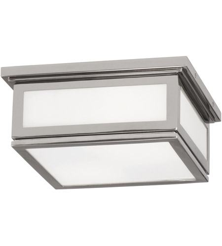 Robert Abbey S1338 Bradley 2 Light 10 inch Polished Nickel Flush Mount Ceiling Light