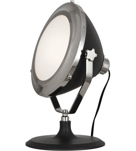 Robert Abbey S1580 Apollo 13 inch 60 watt Polished Nickel with Charcoal Gray Painted Table Lamp Portable Light