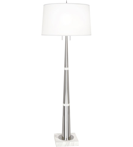Robert abbey s163 florence 63 inch 150 watt polished nickel and robert abbey s163 florence 63 inch 150 watt polished nickel and white marble floor lamp portable light aloadofball Gallery