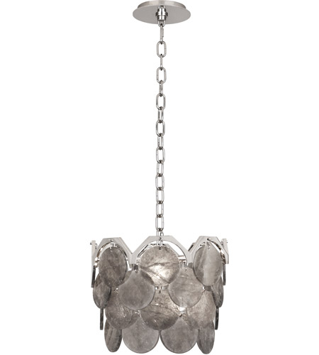 Robert Abbey S1895 Hope 4 Light 14 inch Polished Nickel Pendant Ceiling Light in Smoky Rock Crystal photo thumbnail