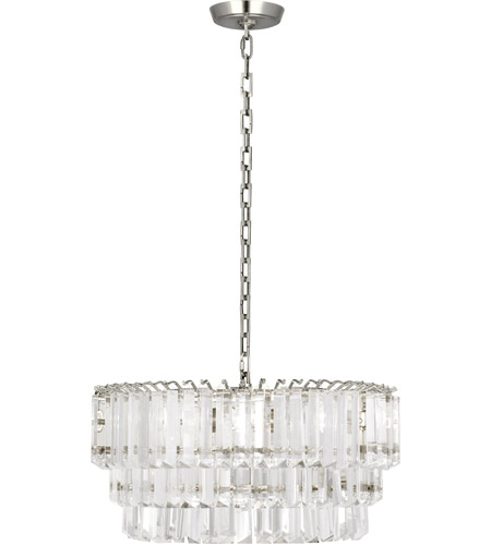 Robert Abbey S1918 Spectrum 2 Light 20 inch Polished Nickel Pendant Ceiling Light photo