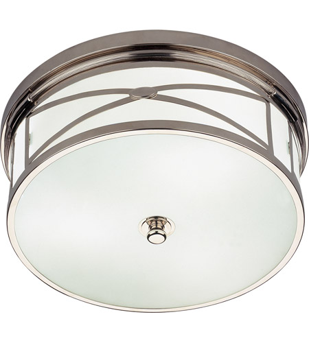 Robert Abbey S1985 Chase 3 Light 15 inch Polished Nickel Flushmount Ceiling Light photo