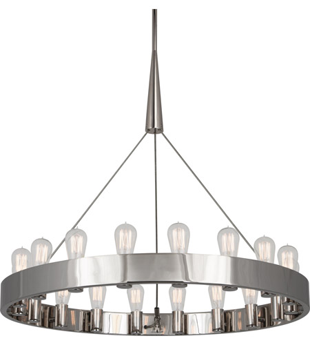 Robert Abbey S2091 Rico Espinet Candelaria 18 Light 15 inch Polished Nickel Chandelier Ceiling Light photo thumbnail