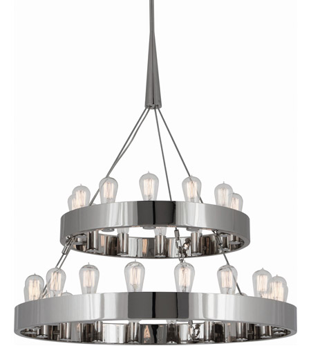 Robert Abbey S2099 Rico Espinet Candelaria 30 Light 15 inch Polished Nickel Chandelier Ceiling Light photo thumbnail