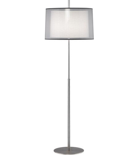 White and Silver Steel Floor Lamps