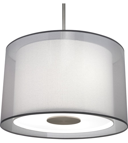 Robert Abbey S2193 Saturnia 3 Light 15 inch Stainless Steel Pendant Ceiling Light in Silver Transparent With Ascot White photo thumbnail