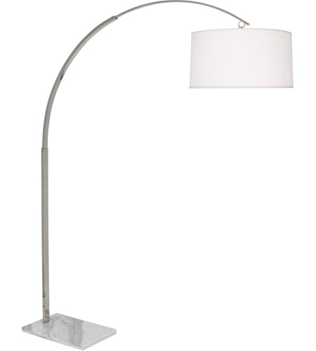 Robert Abbey S2286 Archer 81 inch 150 watt Polished Nickel Floor Lamp Portable Light