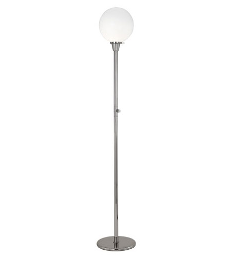 100 watt polished nickel floor lamp portable light in white cased. Black Bedroom Furniture Sets. Home Design Ideas