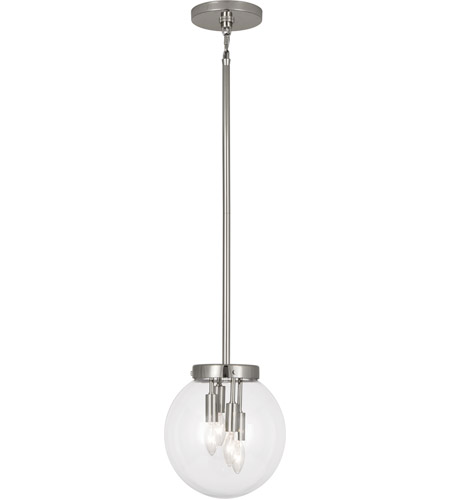 Robert Abbey S2434 Zoltar 4 Light 15 inch Polished Nickel Pendant Ceiling Light photo