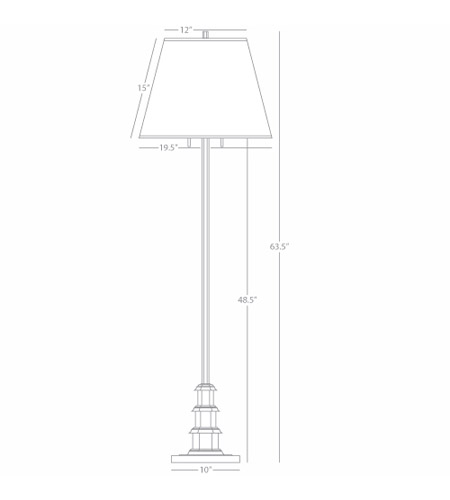 Robert Abbey S301 Williamsburg Ming 64 inch 100 watt Silver Plate with Clear Lead Crystal Floor Lamp Portable Light in White Silk alternative photo thumbnail