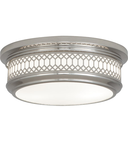 Robert Abbey S306 Williamsburg Tucker 2 Light 15 inch Polished Nickel Flushmount Ceiling Light photo