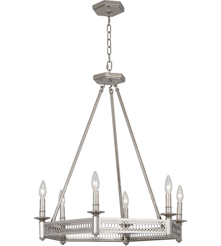 Robert abbey s308 williamsburg tucker 6 light 27 inch polished robert abbey s308 williamsburg tucker 6 light 27 inch polished nickel chandelier ceiling light photo mozeypictures Image collections