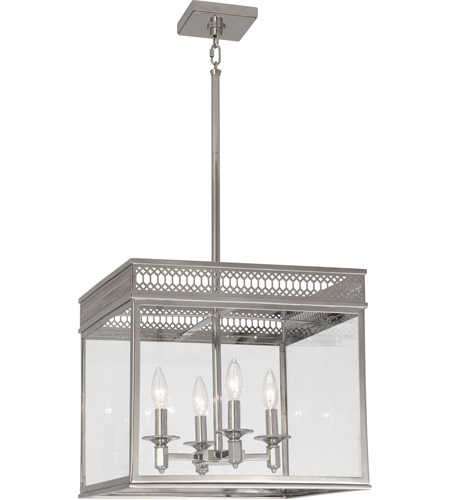 Robert Abbey S309 Williamsburg Tucker 4 Light 17 inch Polished Nickel Pendant Ceiling Light photo