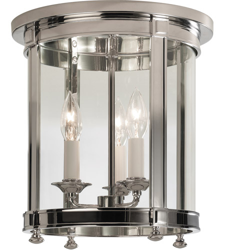 Robert Abbey S3363 Blake 3 Light 11 inch Polished Nickel Flush Mount Ceiling Light
