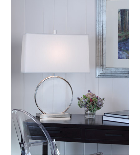 Robert Abbey S3380 Alice 28 inch 150 watt Polished Nickel with Lucite Table Lamp Portable Light S3380-GLAM.jpg